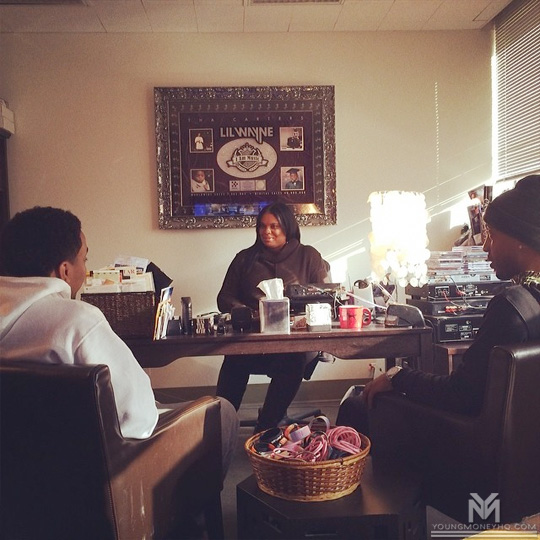 Euro Attends A Meeting With Cortez Bryant At Universal Music Group