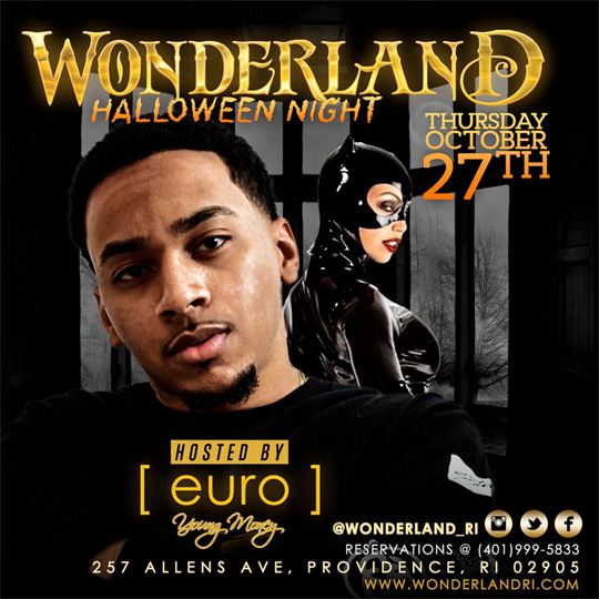 Euro To Host Halloween Night At Wonderland RI Strip Club In Providence Rhode Island