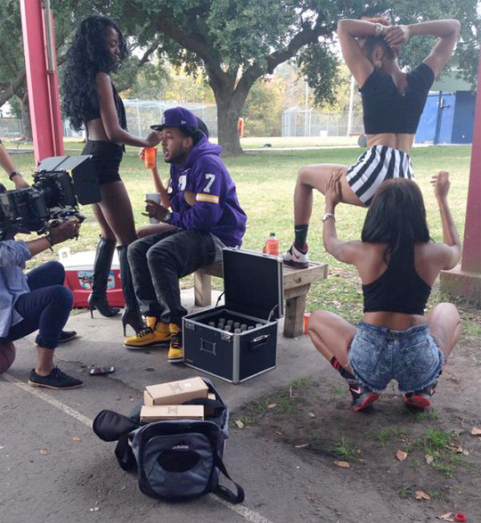 On Set Of Flow & Bonka Monster Video Shoot