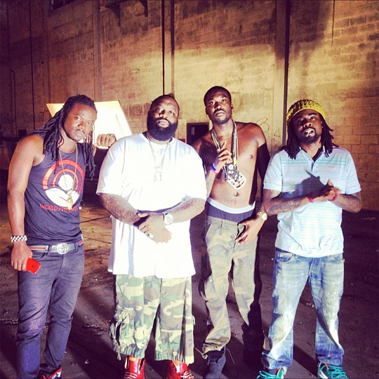 On Set Of French Montana, Drake, Rick Ross & Lil Waynes Pop That