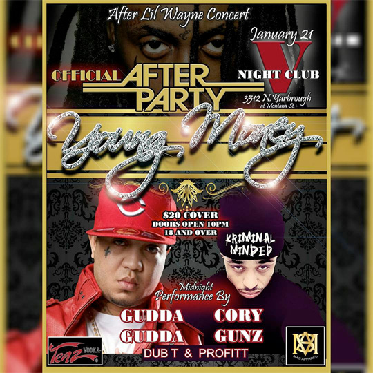 Gudda Gudda & Cory Gunz To Perform Live At Club V In El Paso, Texas