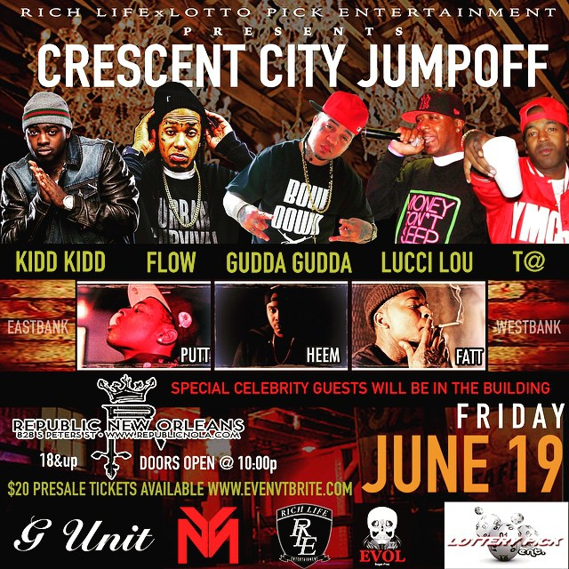 Gudda Gudda, Flow, Lucci Lou, T@ & Others To Perform At Republic New Orleans In June