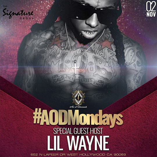 Hood To Celebrate Signing To Young Money At Ace Of Diamonds LA Strip Club With Lil Wayne