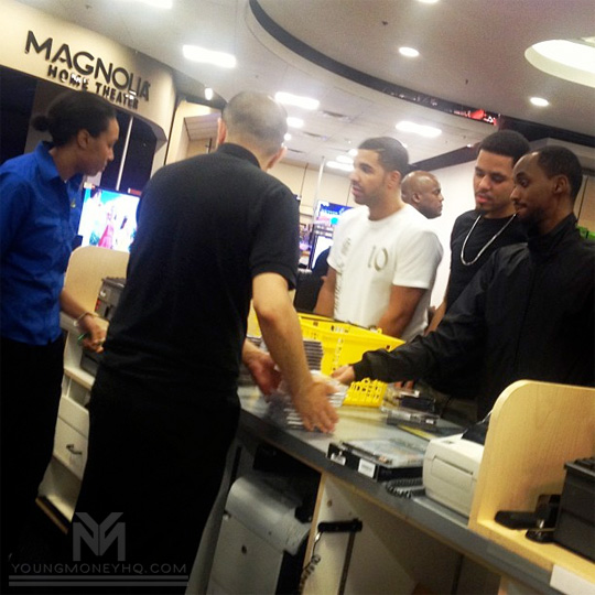 J Cole & Drake Visit Best Buy To Purchase Born Sinner Albums