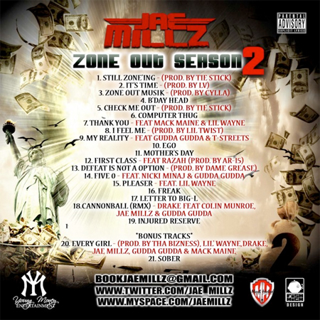 Jae Millz Zone Out Season 2 - Mixtape Download