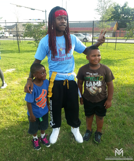 Lil Chuckee Attends 2nd Annual Ballin For Life Cancer Fight Event In New Orleans