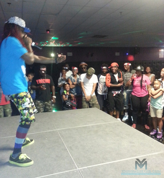 Lil Chuckee Attends & Performs At Skate & Shake In Mississippi