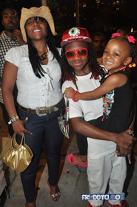 Pictures Of Lil Chuckee & Lil Twist At Back To School Give Away