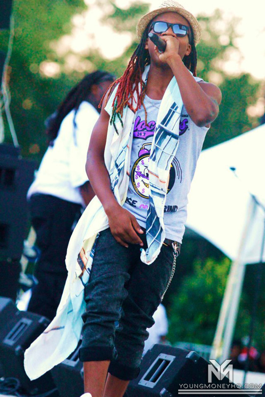 Lil Chuckee Performs At WCCG 104.5 2012 Festival In North Carolina