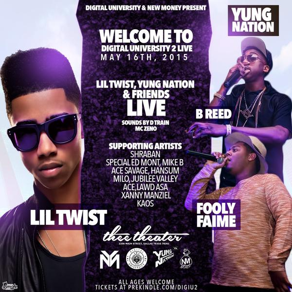 Lil Twist Is Headlining Welcome To Digital University 2 In Dallas, Texas