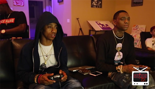 Lil Twist & Soulja Boy Play A Game Of NBA 2K16 On Xbox One