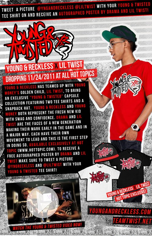 Lil Twist And Young & Reckless Launch Young & Twisted Clothing Line