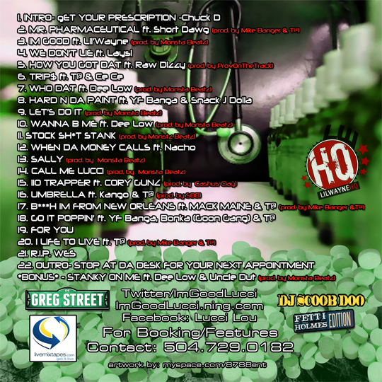 Lucci Lou Mr Pharmaceutical - Mixtape Download