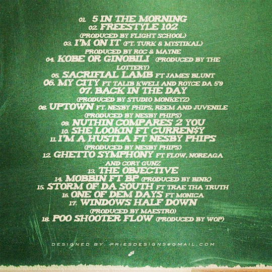 Official Tracklist For Mack Maine Freestyle 102 No Pens No Pads Mixtape