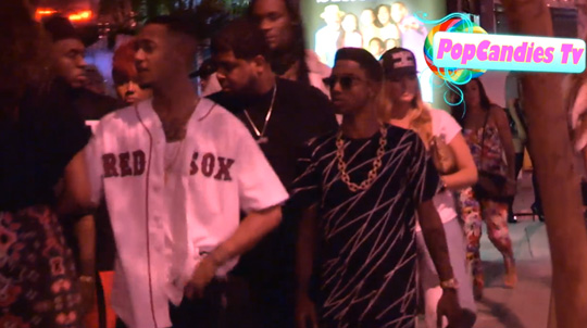 Mack Maine Tells You To Buy Tha Carter 5 As He Enters Bootsy Bellows In West Hollywood
