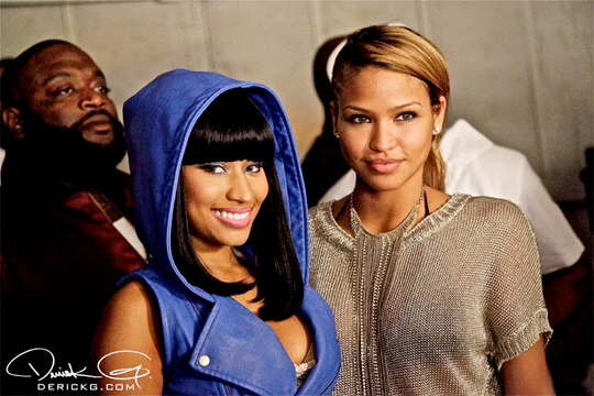 Pictures Of Nicki Minaj On The Set Of The All I Do Is Win Remix Video Shoot