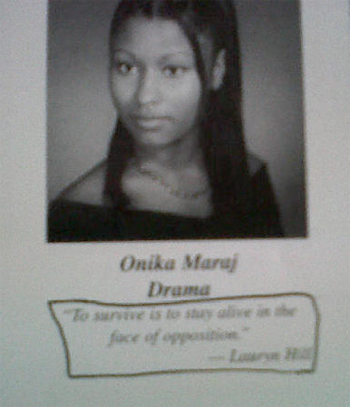 are nicki minaj and drake married. Nicki Minaj High School Photo