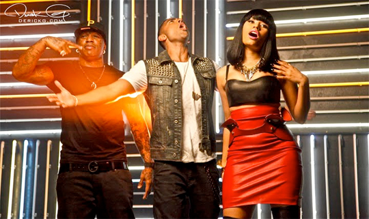 Pictures Of Nicki Minaj Jay Sean & Birdman On The Set Of The 2012 Music