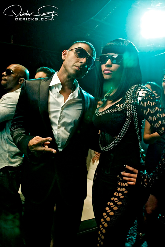 Pictures Of Nicki Minaj Jay Sean & Birdman On The Set Of The 2012 Music Video