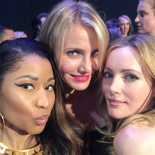 Nicki Minaj Attends The 2014 MTV Movie Awards With Cameron Diaz & Leslie Mann