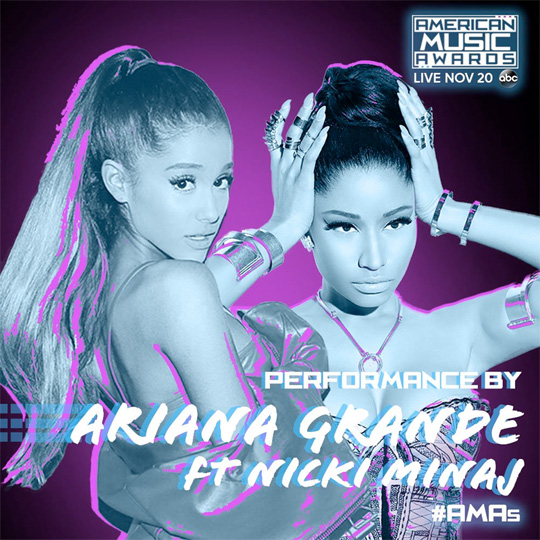 Nicki Minaj & Ariana Grande To Perform Side To Side Live At The 2016 American Music Awards