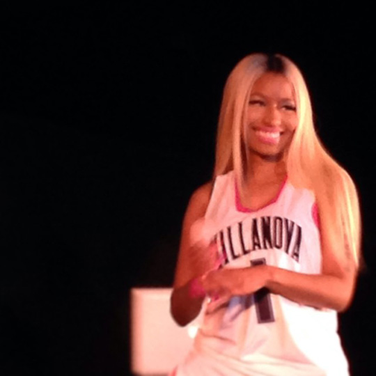 Nicki Minaj Attends & Performs At Villanova University 2013 Hoops Mania