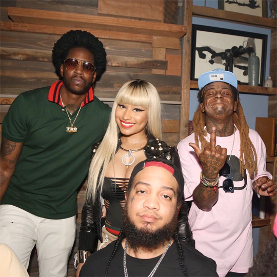 Nicki Minaj Attends BET Awards After Party With Lil Wayne, Gudda Gudda & More