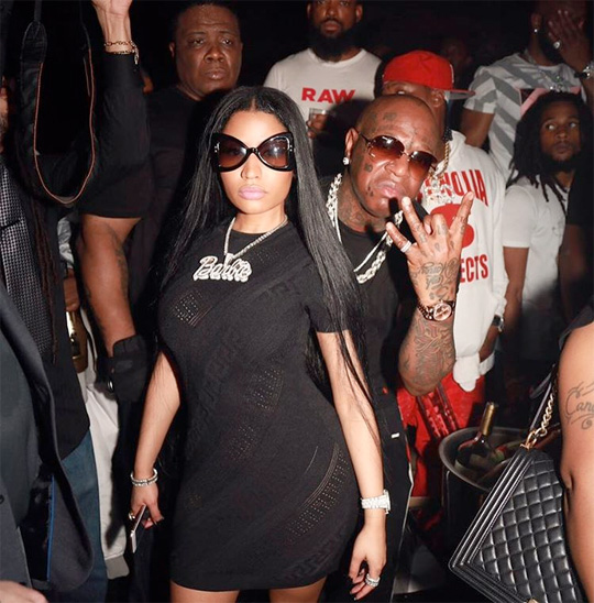 Nicki Minaj Celebrated Memorial Day Weekend At LIV In Miami With Birdman & Mack Maine