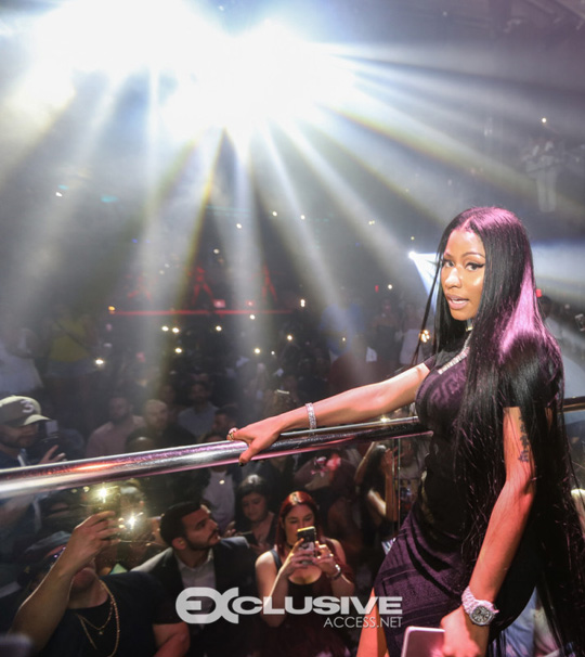More Photos Of Nicki Minaj Celebrating Memorial Day Weekend At LIV In Miami With Birdman & Mack Maine