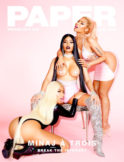 Nicki Minaj Covers PAPER Magazine Break The Internet Winter 2017 Issue