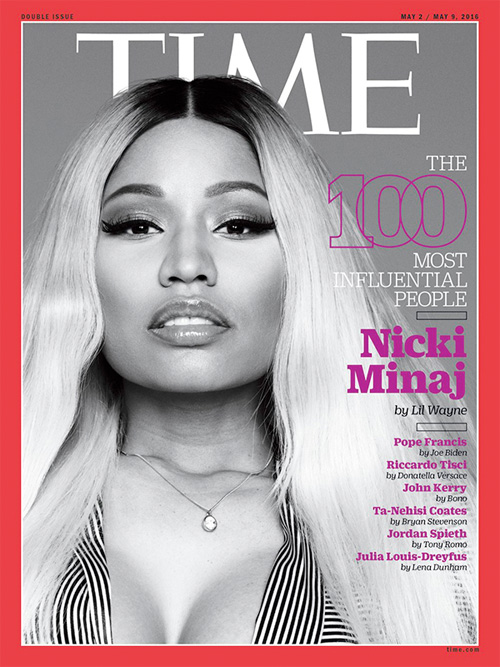 Nicki Minaj Covers TIME Magazine The 100 Most Influential People Issue