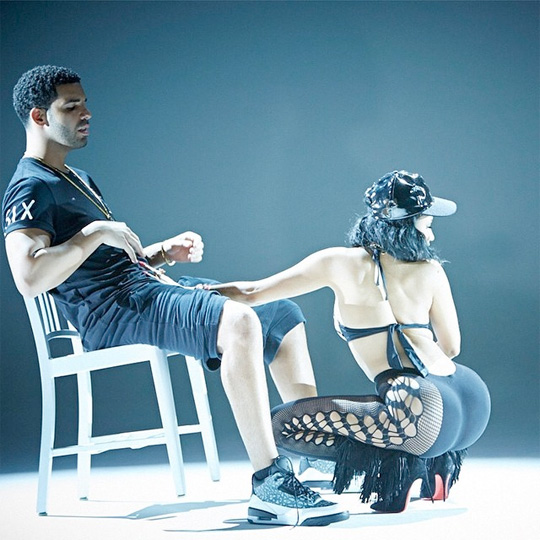 Nicki Minaj & Drake On Set Of Anaconda Video Shoot
