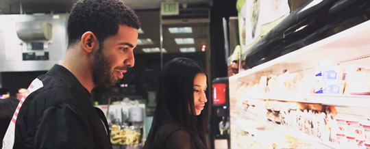 Nicki Minaj & Drake Go Shopping On Set Of She Came To Give It To You