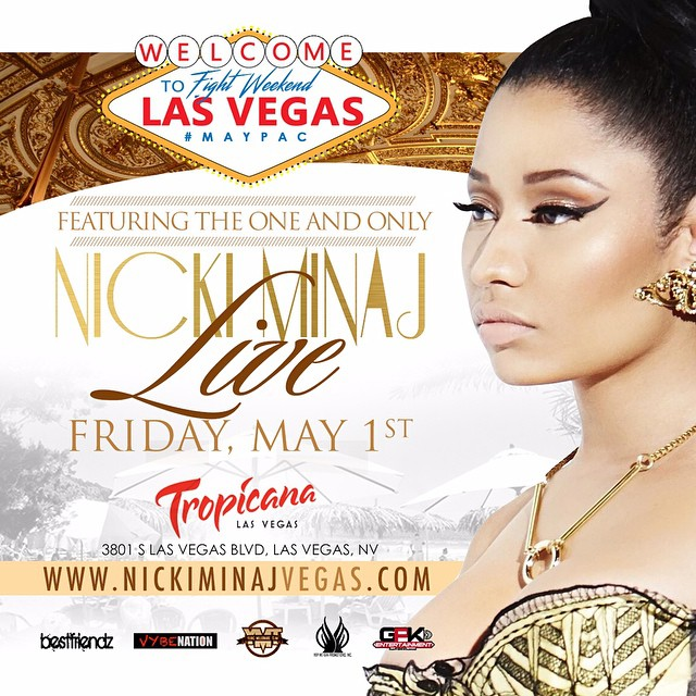 Nicki Minaj To Host A Fight Weekend Party At Tropicana In Las Vegas