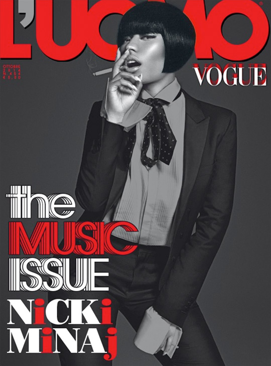 Nicki Minaj Graces The Front Cover Of LUomo Vogue October Issue