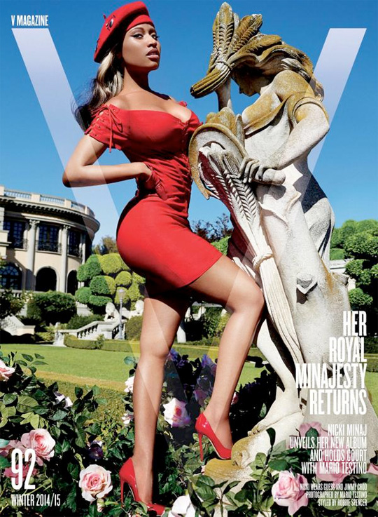 Nicki Minaj On The Front Cover Of V Magazine 2014 2015 Winter Issue & Photo Shoot