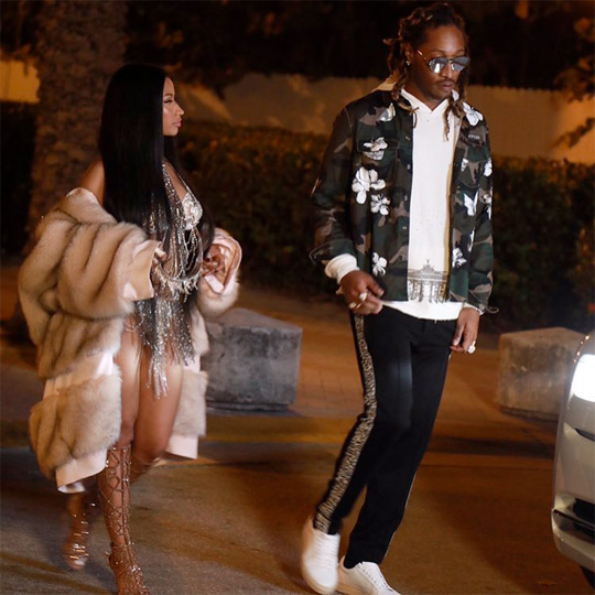 Nicki Minaj & Future Shoot A Music Video At A Secret Location