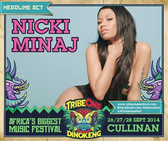 Nicki Minaj Is Headlining 2014 TribeOne Dinokeng Music Festival In South Africa