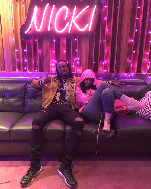 Nicki Minaj Hits Up The Studio With Quavo & London On Da Track