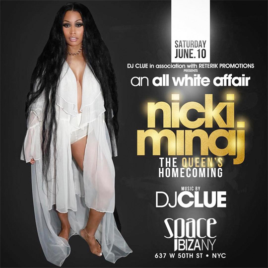 Nicki Minaj To Host An All White Party At Space Ibiza In New York