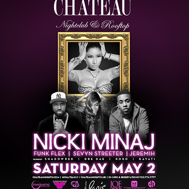 Nicki Minaj To Host A Fight Weekend Party At Chateau In Las Vegas