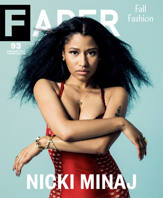 Nicki Minaj Covers Issue 93 Of FADER Magazine, View Pictures From The Photo Shoot