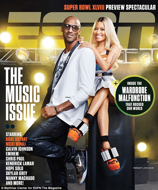 Nicki Minaj & Kobe Bryant Cover Music Issue Of ESPN The Magazine