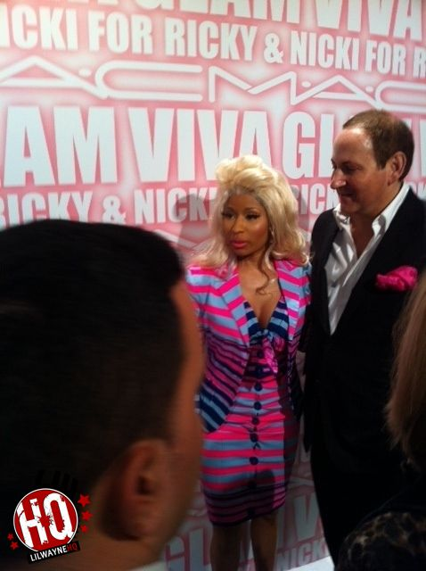 Pictures Of Nicki Minaj Attending M.A.Cs VIVA GLAM Launch Party