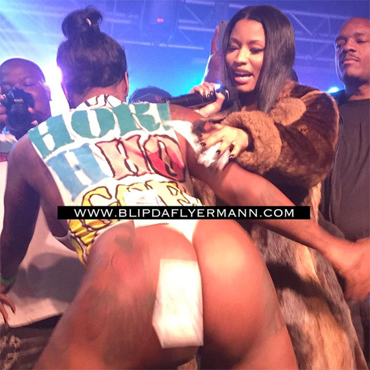 Nicki Minaj Makes It Rain During Meek Mill Show At Studio 233 Nightclub In New Orleans