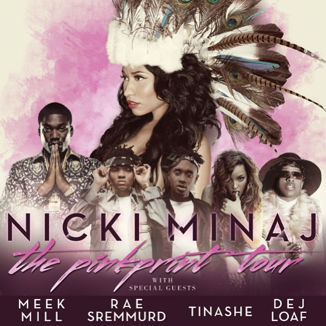 Nicki Minaj Announces North American Dates For Her Summer Tour With Meek Mill, Rae Sremmurd, Tinashe & DeJ Loaf