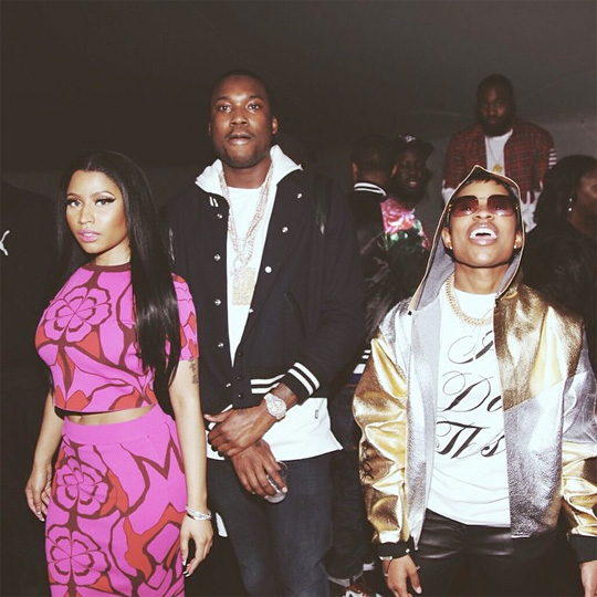 Nicki Minaj Attends Oasis Tent In Charlotte With Meek Mill & DeJ Loaf