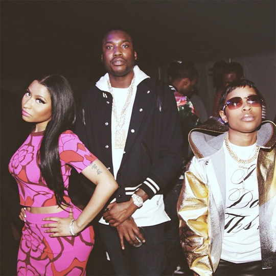Nicki Minaj At Oasis Tent For A 2015 CIAA Weekend Party With Meek Mill & DeJ Loaf