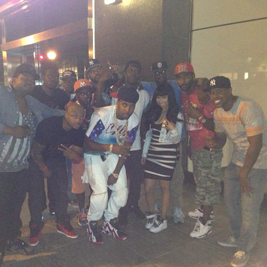 Nicki Minaj Parties At Perfection Strip Club In Queens New York