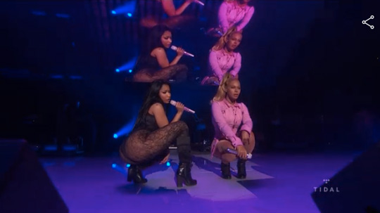 Nicki Minaj Performs Feeling Myself Live With Beyonce At TIDAL X 1020